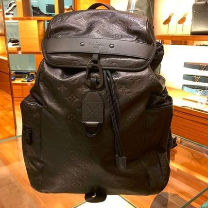 Louis Vuitton Backpacks Monogram Blended Fabrics Street Style A4 Leather Backpacks 3