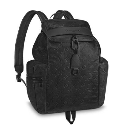 Louis Vuitton Backpacks Monogram Blended Fabrics Street Style A4 Leather Backpacks 4