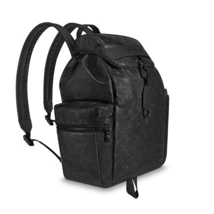 Louis Vuitton Backpacks Monogram Blended Fabrics Street Style A4 Leather Backpacks 5