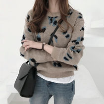 Leopard Patterns Casual Style Street Style Long Sleeves