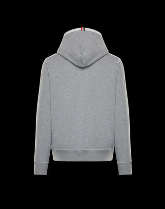 MONCLER Cardigans Street Style Long Sleeves Plain Cotton Logos on the Sleeves 3