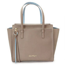 Salvatore Ferragamo 2WAY Plain Leather Elegant Style Handbags
