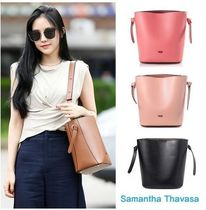 Samantha Thavasa Casual Style Plain Leather Shoulder Bags