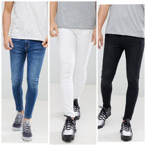 11 Degrees Street Style Plain Cotton Skinny Fit Jeans & Denim