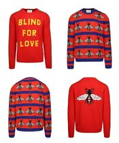 GUCCI Wool Long Sleeves Plain Knits & Sweaters