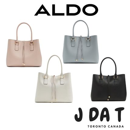 674905a5f0d ALDO 2018-19AW Faux Fur A4 2WAY Plain Office Style Handbags by JDaT ...