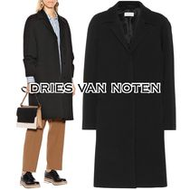 Dries Van Noten Wool Plain Medium Elegant Style Chester Coats