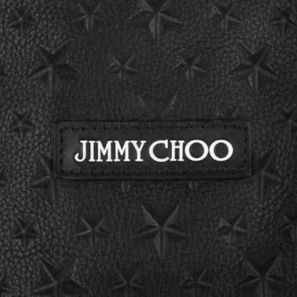 Jimmy Choo Totes Star Unisex Calfskin Street Style A4 Plain Totes 4