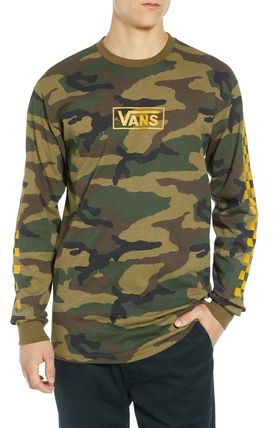 VANS Long Sleeve Camouflage Long Sleeves Cotton Long Sleeve T-Shirts