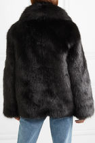 Off-White Short Cashmere & Fur Coats