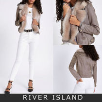 River Island Short Casual Style Suede Biker Jackets