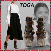 TOGA Other Check Patterns Casual Style Block Heels