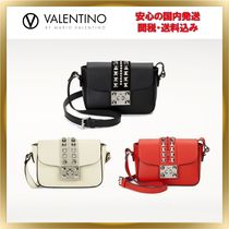 Mario Valentino Studded Leather Shoulder Bags