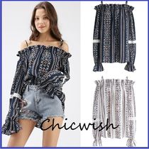 Chicwish Casual Style Medium Super-long Sleeves Shirts & Blouses