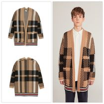 HEICH BLADE Tartan Other Check Patterns Unisex Street Style Cardigans