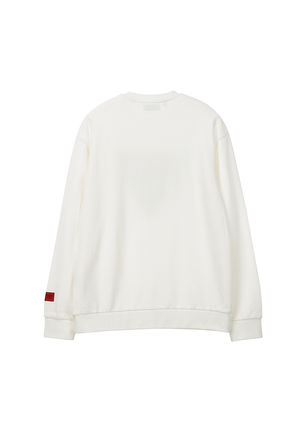Guess Sweatshirts Unisex U-Neck Long Sleeves Plain Cotton Sweatshirts 6