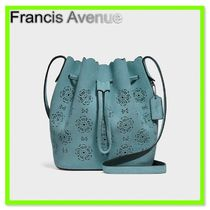 Coach Flower Patterns Suede Purses Handbags