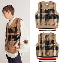HEICH BLADE Other Check Patterns Unisex Street Style Vests & Gillets