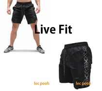 Live Fit Street Style Plain Joggers Shorts