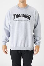 THRASHER Crew Neck Pullovers Sweat Street Style Long Sleeves