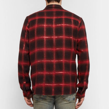AMIRI Shirts Button-down Other Check Patterns Street Style Long Sleeves 3