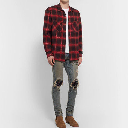 AMIRI Shirts Button-down Other Check Patterns Street Style Long Sleeves 6