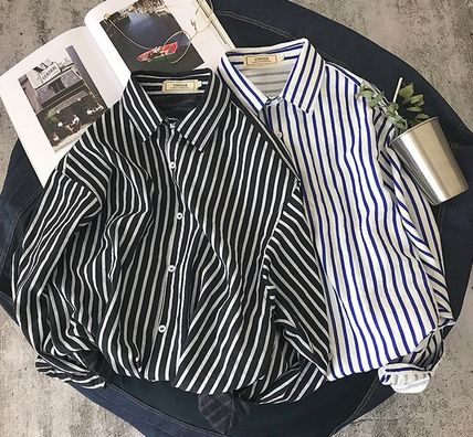 Shirts Stripes Street Style Long Sleeves Shirts 2