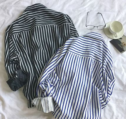 Shirts Stripes Street Style Long Sleeves Shirts 10
