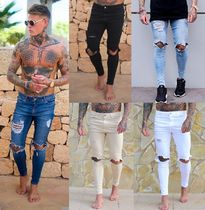 SINNERS ATTIRE Denim Street Style Plain Skinny Fit Jeans & Denim