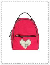 Les Petits Joueurs Heart Casual Style Unisex Chain Backpacks