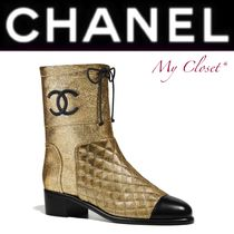 CHANEL Other Check Patterns Blended Fabrics Street Style Plain