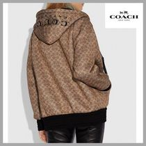 Coach SIGNATURE Monogram Medium Oversized Elegant Style Jackets