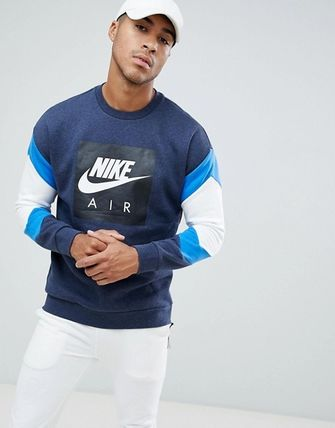 Nike Sweatshirts Crew Neck Sweat Street Style Bi-color Long Sleeves 2