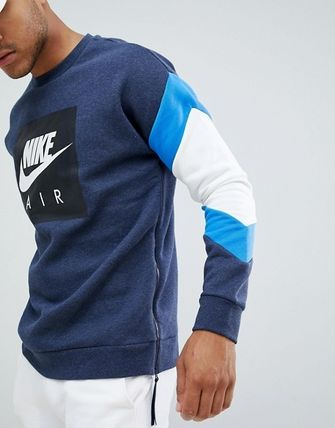Nike Sweatshirts Crew Neck Sweat Street Style Bi-color Long Sleeves 3