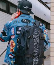 Supreme Street Style Collaboration Plain Backpacks