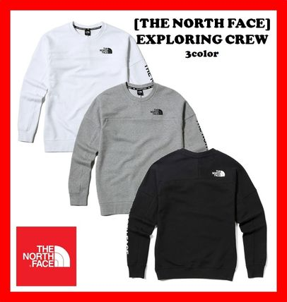 THE NORTH FACE Sweatshirts Street Style Long Sleeves Sweatshirts