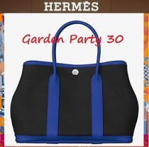 HERMES Garden Party 2WAY Leather Elegant Style Totes