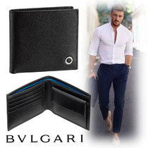 Bvlgari Bi-color Leather Folding Wallets