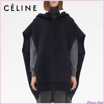 CELINE Casual Style Wool Sleeveless Plain Medium Oversized