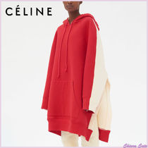 CELINE Bi-color Long Sleeves Cotton Medium Oversized