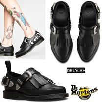 Dr Martens Monk Rubber Sole Casual Style Tassel Plain Leather