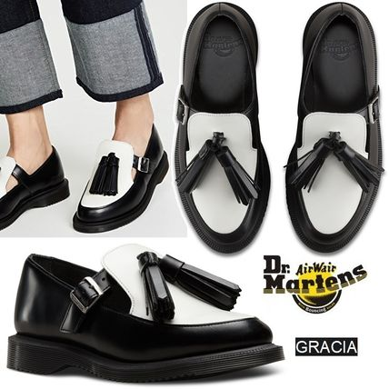 ... Dr Martens Loafer Plain Toe Rubber Sole Casual Style Tassel Bi-color Leather ...