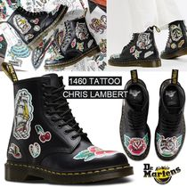 Dr Martens Flower Patterns Round Toe Rubber Sole Lace-up Collaboration
