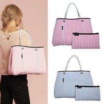 willow bay Gingham Other Plaid Patterns Casual Style Bag in Bag A4