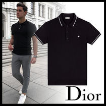 DIOR HOMME Wool Plain Short Sleeves Polos