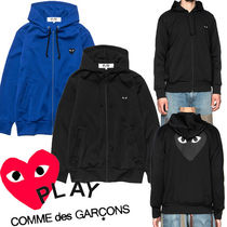 COMME des GARCONS Button-down Heart Unisex Street Style Bi-color Long Sleeves