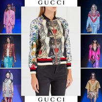 GUCCI Short Casual Style Street Style Other Animal Patterns