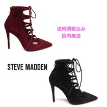 Steve Madden Suede Plain Party Style High Heel Boots