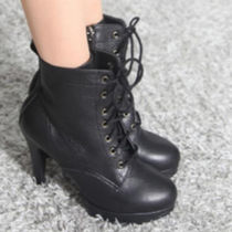 Wedge Leather Wedge Boots