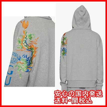 GUCCI Hoodies Pullovers Unisex Street Style Long Sleeves Cotton Hoodies 2